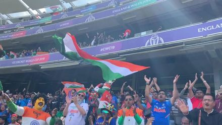 CWC19: BAN v IND - India fans celebrate Rohit's fifty