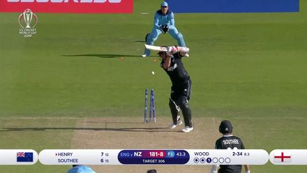 CWC19: ENG v NZ - Wood claims his third wicket