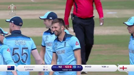CWC19: ENG v NZ - Wood removes Neesham to put England on top