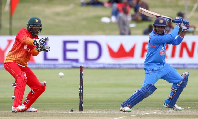 Rayudu scored 63* in his first match against Zimbabwe in 2013, becoming the third oldest Indian to score a fifty on ODI debut