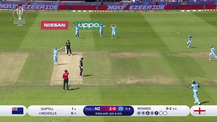 CWC19: ENG v NZ - Woakes strikes early to remove Nicholls