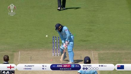 CWC19: ENG v NZ - Southee bowls Rashid with a stunning yorker