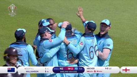 CWC19: ENG v NZ - The second innings wickets