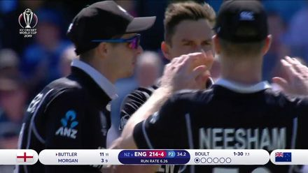 CWC19: ENG v NZ - Check out all the first innings wickets