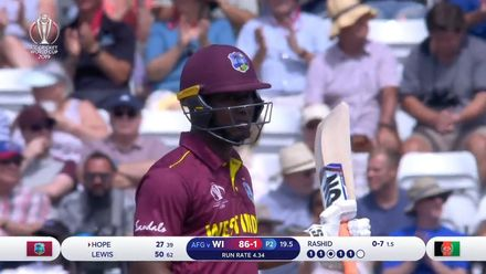 CWC19: AFG v WI – Highlights of Evin Lewis' 78-ball 58