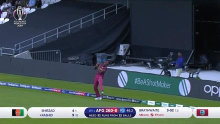 CWC19: AFG v WI – Holder takes another good catch in the deep