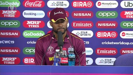 CWC19: AFG v WI – Shai Hope post-match press conference