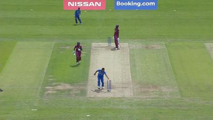 CWC19: AFG v WI – Pooran is run out for 58