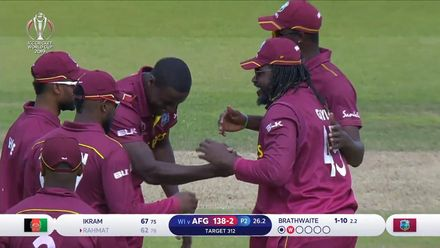 CWC19: AFG v WI – Highlights of Carlos Brathwaite's 4/63