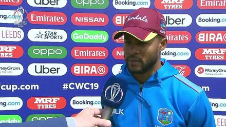 CWC19: AFG v WI – Shai Hope interview