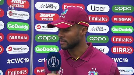 CWC19: AFG v WI – Player of the Match Shai Hope