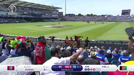 CWC19: AFG v WI – Hope is dismissed by Nabi for 77