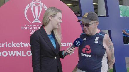 CWC19: AFG v WI – Elma Smit meets a die-hard cricket fan at Headingley
