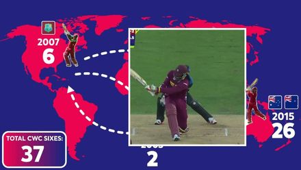 CWC19: Chris Gayle's record sixes at World Cups