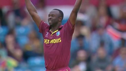 CWC19: AFG v WI – Highlights of Kemar Roach's 3/37