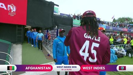 CWC19: AFG v WI – Gayle signs off from Headingley!