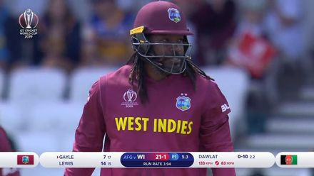 CWC19: AFG v WI – Gayle falls early for 7