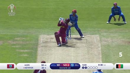 Afghanistan 288 vs West Indies 311/6 | Match 42 | ICC
