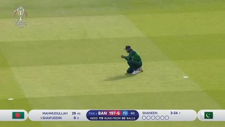 CWC19: PAK v BAN - Saifuddin is caught at mid-off