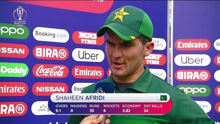 CWC19: PAK v BAN - Player of the Match Shaheen Afridi