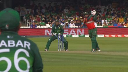 CWC19: PAK v BAN - Mosaddek is caught in the deep off Shadab Khan
