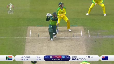 CWC19: AUS v SA - Lyon strikes again as De Kock miscues