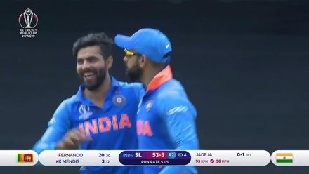 CWC19: SL v IND - First wicket of #CWC19 for Jadeja