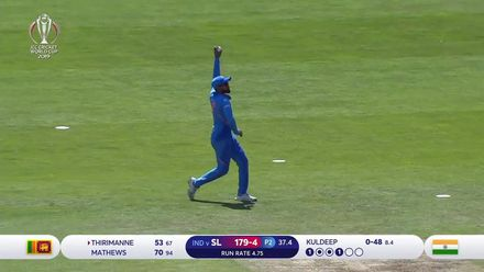 CWC19: SL v IND - Kuldeep breaks the Mathews and Thirimanne partnership