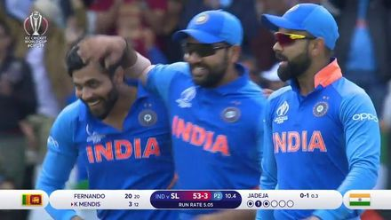 CWC19: SL v IND - The Sri Lanka wickets to fall