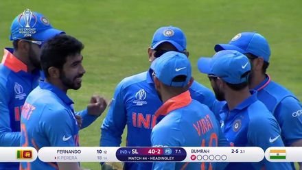 CWC19: SL v IND - Bumrah's stunning start continues with the wicket of Kusal Perera