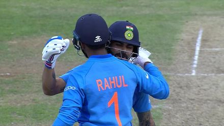 CWC19: SL v IND - KL Rahul celebrates his first World Cup hundred