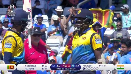 CWC19: SL v IND - Lahiru Thirimanne fifty highlights