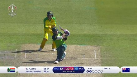 CWC19: AUS v SA - South Africa innings highlights
