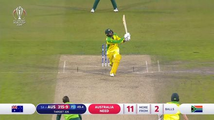 CWC19: AUS v SA - Lyon is the last wicket to fall