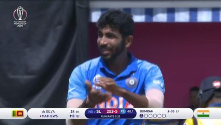CWC19: SL v IND - Bumrah removes Mathews for 113