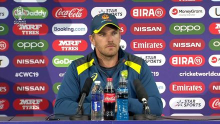 CWC19: AUS  v SA - Aaron Finch media conference