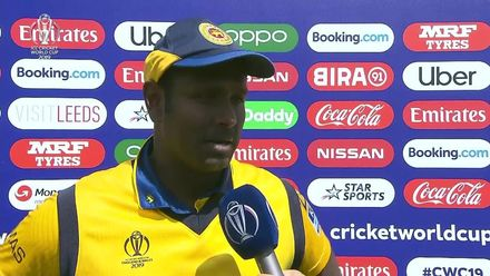 CWC19: SL v IND - Flash interview with centurion Angelo Mathews