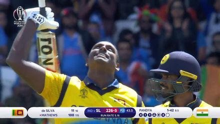 CWC19: SL v IND - Angelo Mathews century highlights
