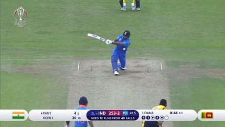 CWC19: SL v IND - Pant falls lbw to Udana