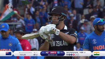 CWC19 SF: IND v NZ – de Grandhomme is caught behind for 16