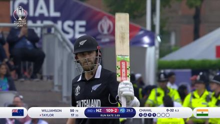 CWC19 SF: IND v NZ – Highlights of Kane Williamson's 95-ball 67