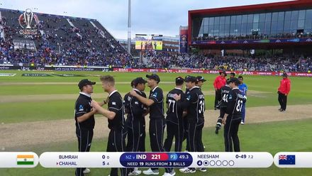 CWC19 SF: IND v NZ – Match highlights