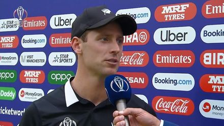 CWC19 SF: IND v NZ – Matt Henry receives Player of the Match award