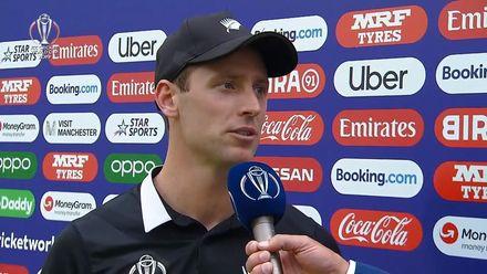 CWC19 SF: IND v NZ – Matt Henry receives Player of the Match award