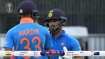 CWC19 SF: IND v NZ – Highlights of India's innings