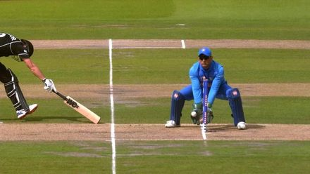 CWC19 SF: IND v NZ – A brilliant throw from Jadeja has Taylor dismissed for 74
