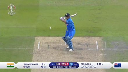 CWC19 SF: IND v NZ – Highlights of Dhoni's 72-ball 50