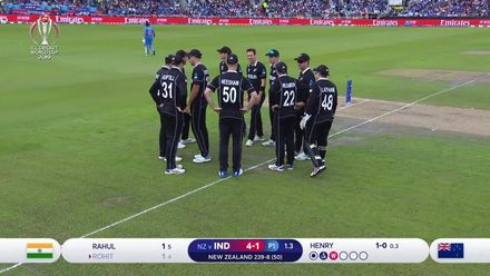 CWC19 SF: IND v NZ – Rohit is caught behind for just 1