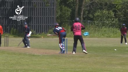ICC U19 CWC Americas Q – BER v CAY: Quick work from Tai Cariah of Bermuda to run out Revaugh Johnson for 14
