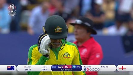 CWC19 SF: AUS v ENG - Carey holes out to Vince